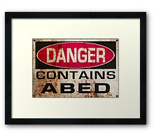 DANGER! Contains nerd Framed Print