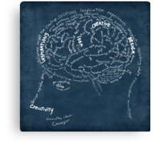 Brain design Canvas Print