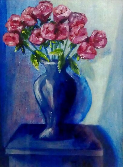 Blue Vase by Ciska