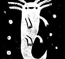 Axolotl Print by Sophie Corrigan