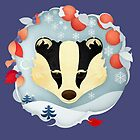 Snowy Badger by Compassionate Tees