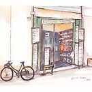 Outside the shop by Santie Amery
