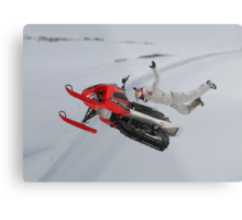 Snowmobile Tricks Metal Print