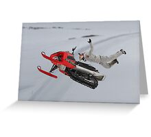 Snowmobile Tricks Greeting Card