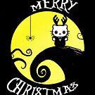 Nightmare before Christmas kitty card by deedeedee123