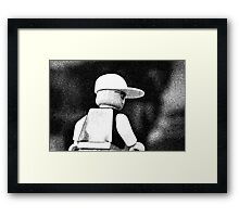 Sketchy Guy Framed Print