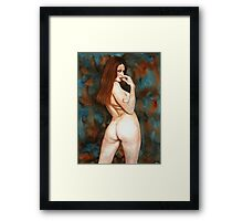 Red-haired Beauty - Dangerous Look Framed Print