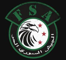 Free Syrian Army logo large worn by obskura