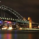 Sydney Harbour Bridge at Night by Kezzarama