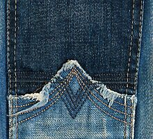 A Blue Jean Style Texture with Stitched Pocket by scottorz