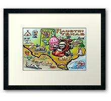 Formula One Austin Texas Framed Print