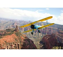 Boeing Stearman at Mount Hayden, Grand Canyon Photographic Print