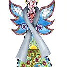 BRAIN CANCER ANGEL - HOPE LOVE FAITH by Lisa Frances Judd ~ Original Australian Art