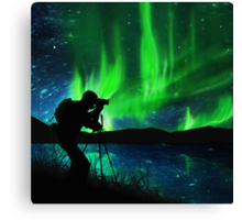 shooting aurora Canvas Print