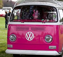 VW Camper van in pink by Martyn Franklin