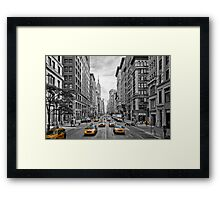 5th Avenue Yellow Cabs - NYC Framed Print