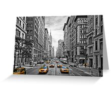 5th Avenue Yellow Cabs - NYC Greeting Card