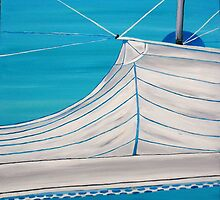 Sailboat sail Amel 4 Oil on Canvas Painting by SlavicaB