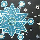 falling flakes. cascading crystals by Hannah Clair Phillips