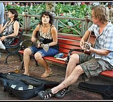 Busking at the Jazz Festival by Mikell Herrick