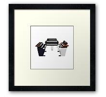 Vintage Synthesizers / Keyboards Framed Print