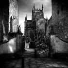 Dunfermline Abbey from Abbot house by Paul  Gibb