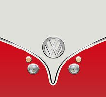 VW Camper Van Red by Boback Shahsafdari