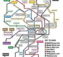 Geeks' Tube Map by ChoqueFrontal