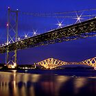The Bridges at night by Paul  Gibb