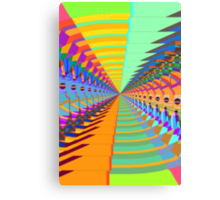 Abstract / Psychedelic Tunnel of Colorful Shapes Canvas Print