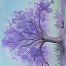 Jacaranda iPad case by Dianne  Ilka