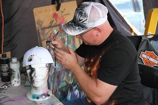 Man At Work: Air Brush Artist by aussiebushstick