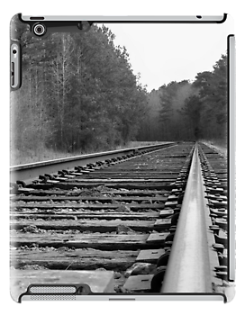 Waiting On The Train iPad Case by Betty Northcutt