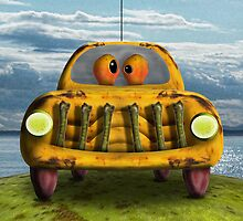 On Apple Horizons The Banana Car by GolemAura