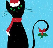 Christmas Cat by Megan Noble