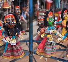 Colourful Wooden Puppets, Kathmandu by TravelShots