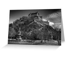 Edinburgh Castle Mono Greeting Card