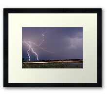 Lightning Thunderstorm DragOn Framed Print