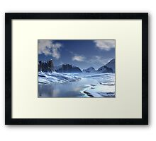Ice River Valley Framed Print