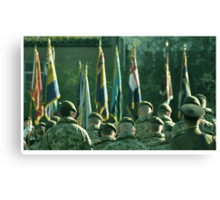 Respect for the fallen Canvas Print