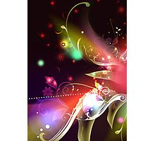 Glowing Flowers & Flourishes Photographic Print