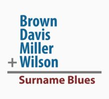 Surname Blues - Brown, Davis, Miller & Wilson by ns2photography