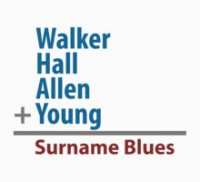 Surname Blues - Walker, Hall, Allen, Young by ns2photography