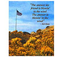 The Answer Is Blowin' In The Wind Photographic Print