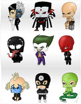 Chibi Villains 1 by artwaste