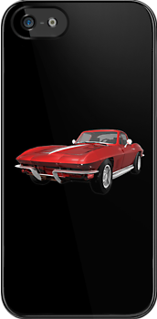 Red 1967 Corvette Stingray by bradyarnold