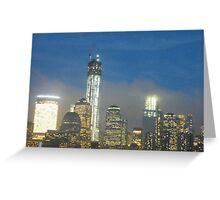 The New World Trade Center at Night, Lower Manhattan, New York City Greeting Card