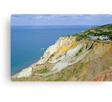Alum Bay, Coloured Sand Cliffs  Canvas Print