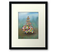 elephant jumble Framed Print