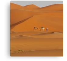 Dunes and Camels, Sahara Desert Morocco Canvas Print